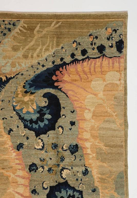 Contemporary Orley Shabahang Signature Carpet in Handspun Wool and Organic Vegetable Dyes