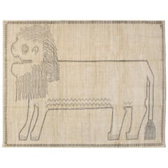 "Orley Shabahang Signature ""Lion"" Carpet in Handspun Wool and Vegetable Dyes"