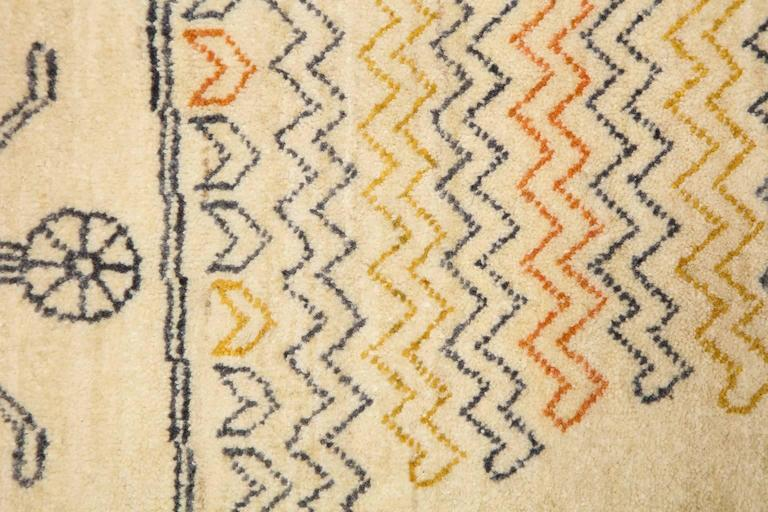 Orley Shabahang Signature Duality Carpet in Handspun Wool and Vegetable Dyes For Sale 2