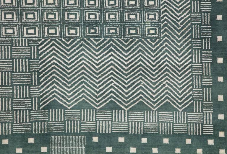 Persian Orley Shabahang Signature Labyrinth Carpet in Handspun Wool and Vegetable Dyes For Sale
