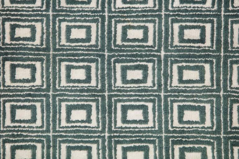 Vegetable Dyed Orley Shabahang Signature Labyrinth Carpet in Handspun Wool and Vegetable Dyes For Sale