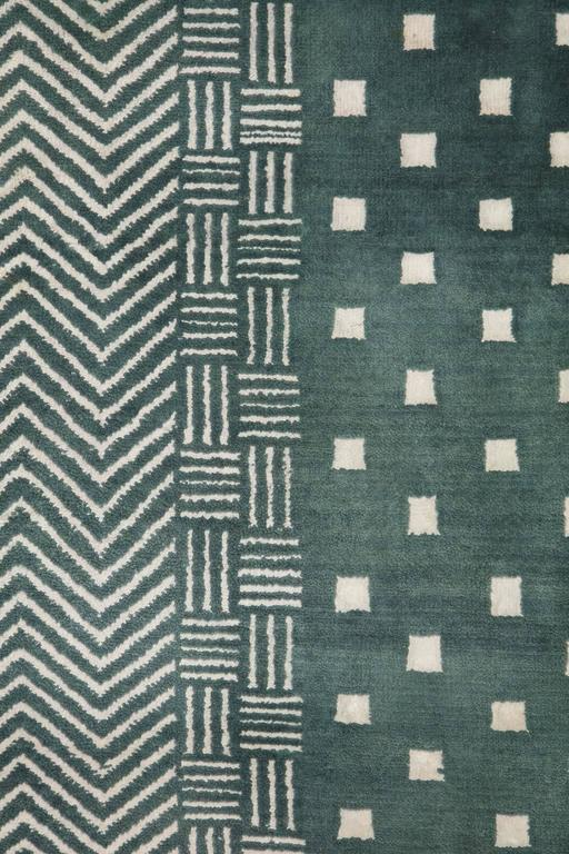 Contemporary Orley Shabahang Signature Labyrinth Carpet in Handspun Wool and Vegetable Dyes For Sale