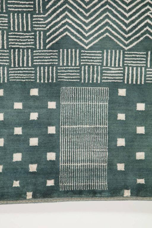 Orley Shabahang Signature Labyrinth Carpet in Handspun Wool and Vegetable Dyes For Sale 1