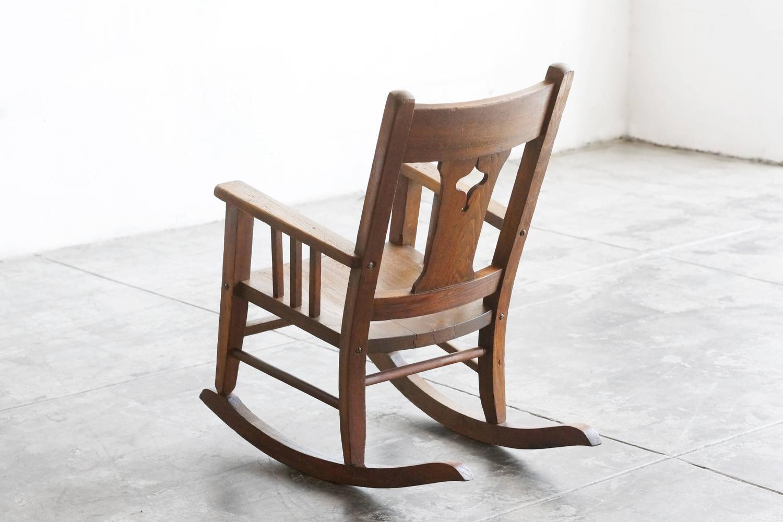 Craftsman Era Childs Rocking Chair, Solid Oak For Sale at 1stdibs