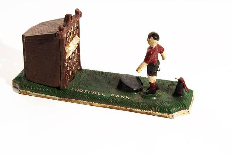 19th Century Mechanical Quot Football Quot Bank At 1stdibs