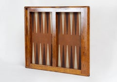 1970s Vintage Oak Backgammon Board