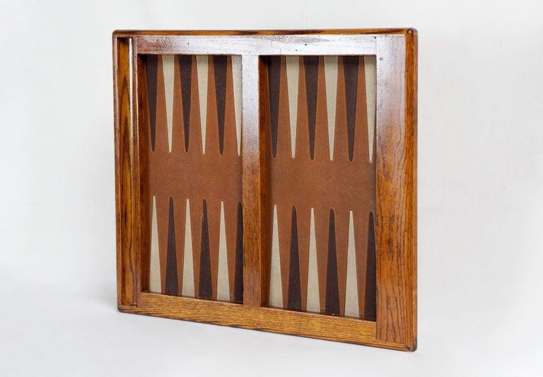 1970s Vintage Oak Backgammon Board