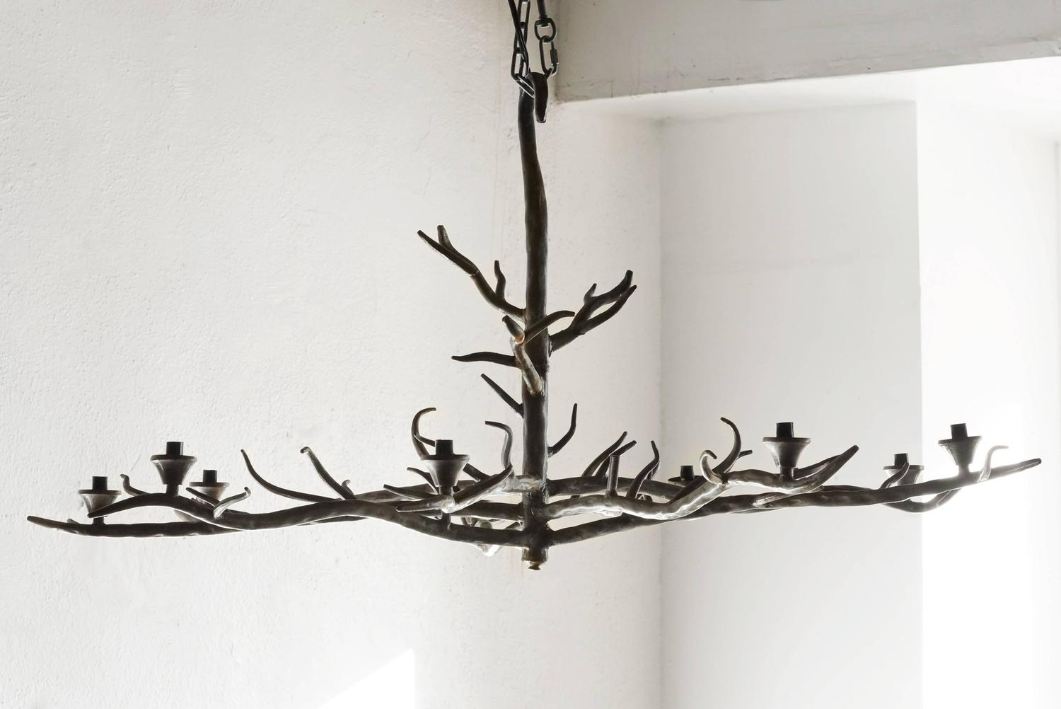 Handmade Tree Branch Chandelier Steel at 1stdibs
