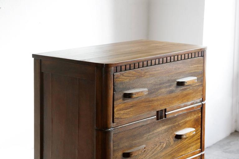 American Art Deco Tallboy Dresser By Owosso For Sale