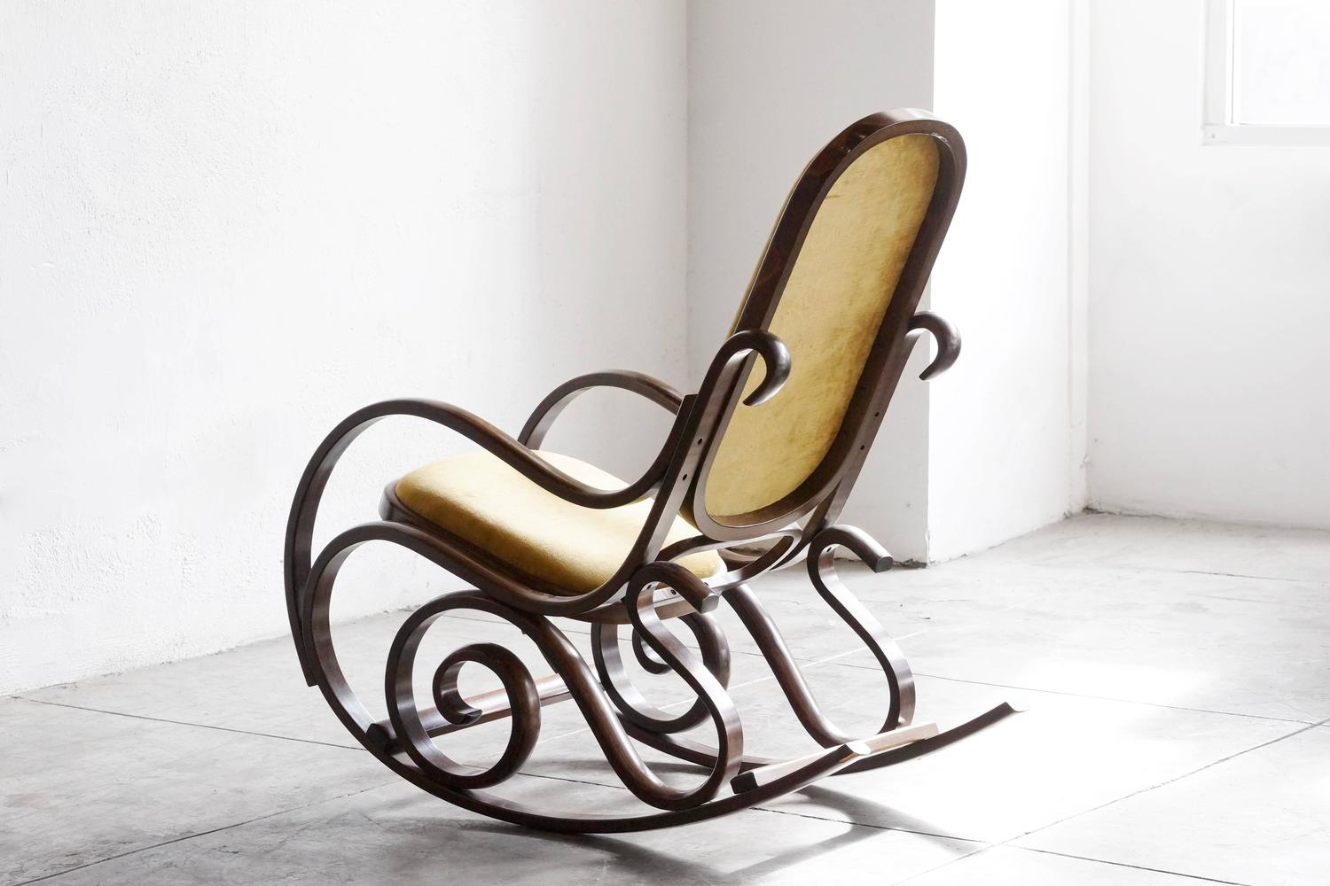 thonet style bentwood rocking chair at 1stdibs