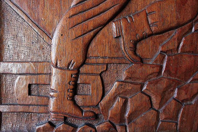 Wpa carved wood relief circa at stdibs