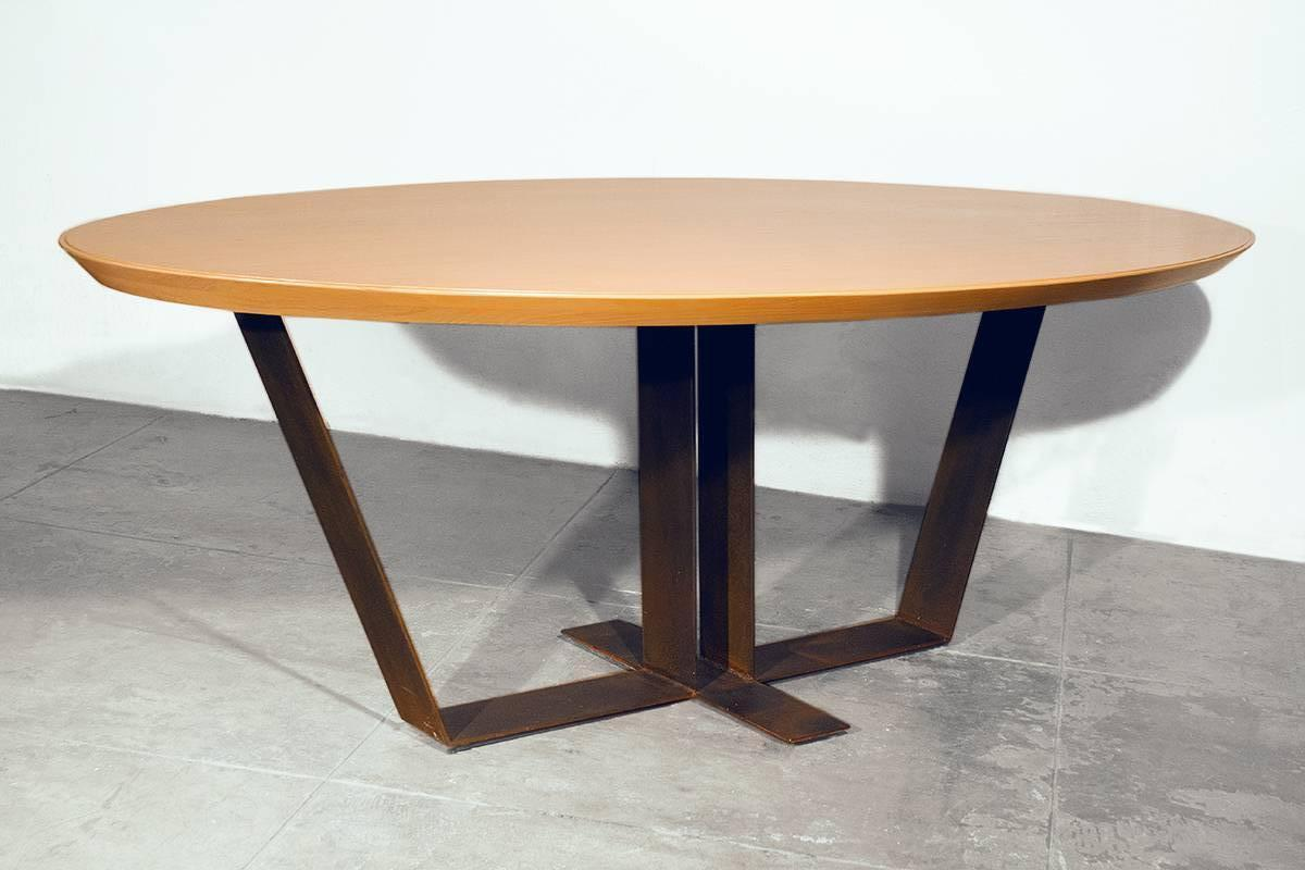20th Century Custom Oak Top Table 1990s For Sale At 1stdibs