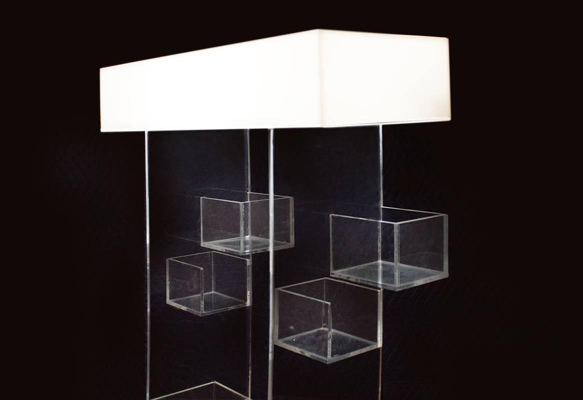 Unique Acrylic Display Shelf Circa 1973 At 1stdibs