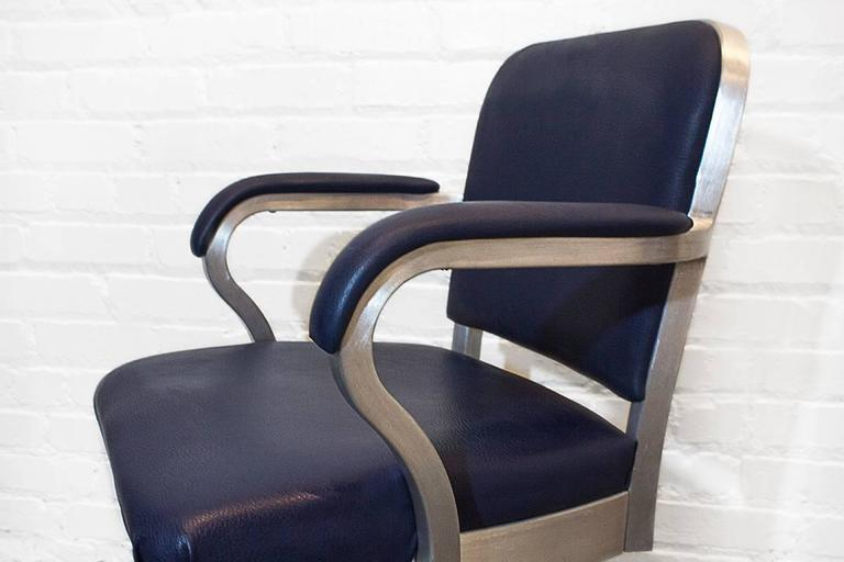 emeco solid back aluminum steno chair circa 1955 at 1stdibs