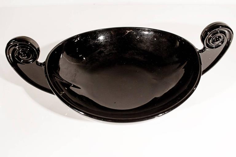 Cambridge Art Deco Glass Bowl, Late 1920s at 1stdibs