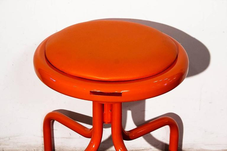 Vintage Counter Stool In Electric Orange 1960s At 1stdibs