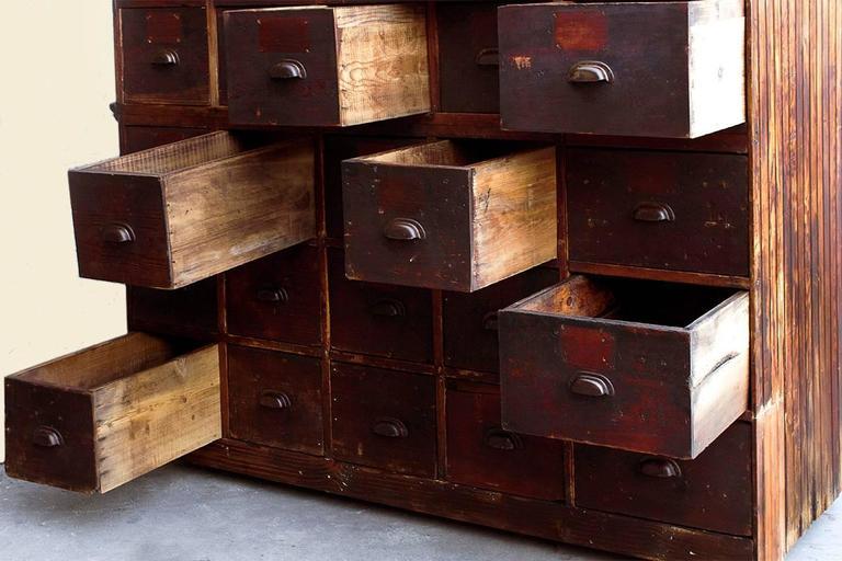 Large Antique Multi-Drawer Storage Cabinet, circa 1890s ...