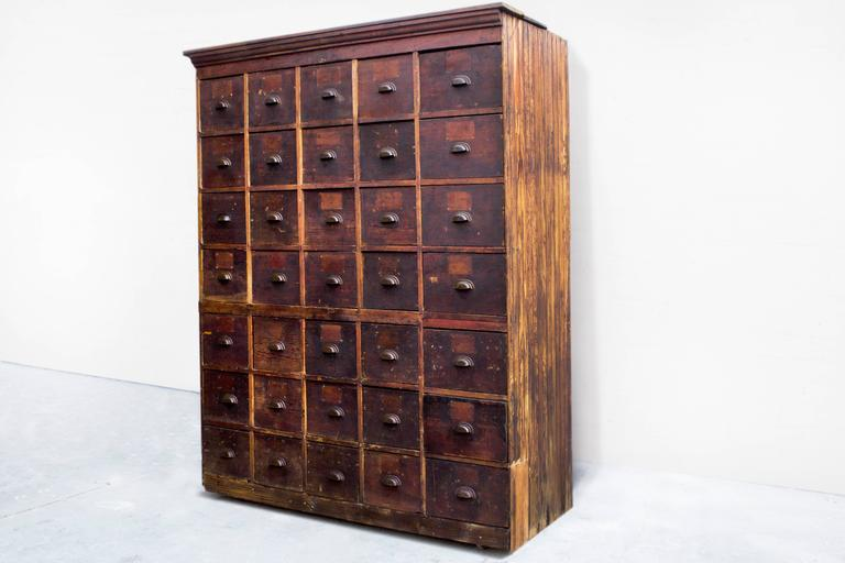 Large Antique Multi-Drawer Storage Cabinet, circa 1890s For Sale ...