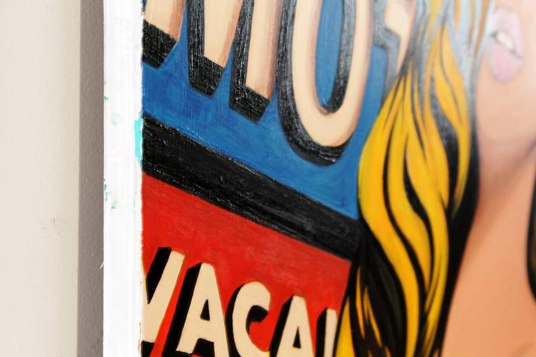 Red Lips On 66 Pop Art Painting 2016 At 1stdibs