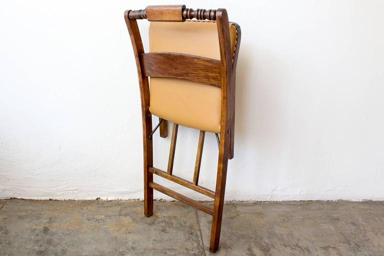 Mission Set of Two Antique Folding Wood Chairs, circa 1930s For Sale - Set Of Two Antique Folding Wood Chairs, Circa 1930s At 1stdibs