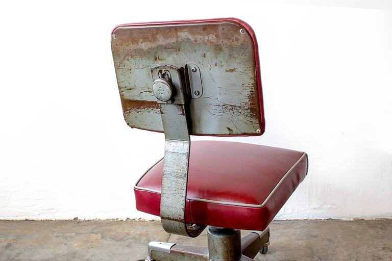 1960s Office Task Chair Reupholstered At 1stdibs
