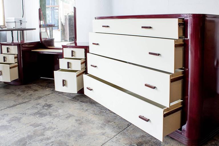 Norman Bel Geddes Dresser And Vanity Bedroom Set
