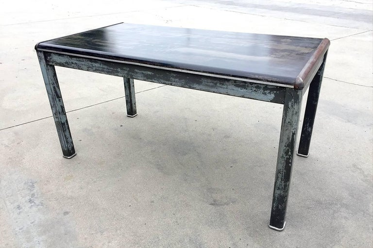 1940s Industrial Tanker Table By Art Metal Refinished At