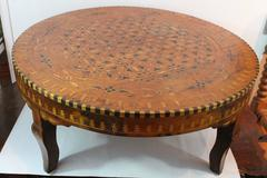 Morrocan Marquetry Low Table