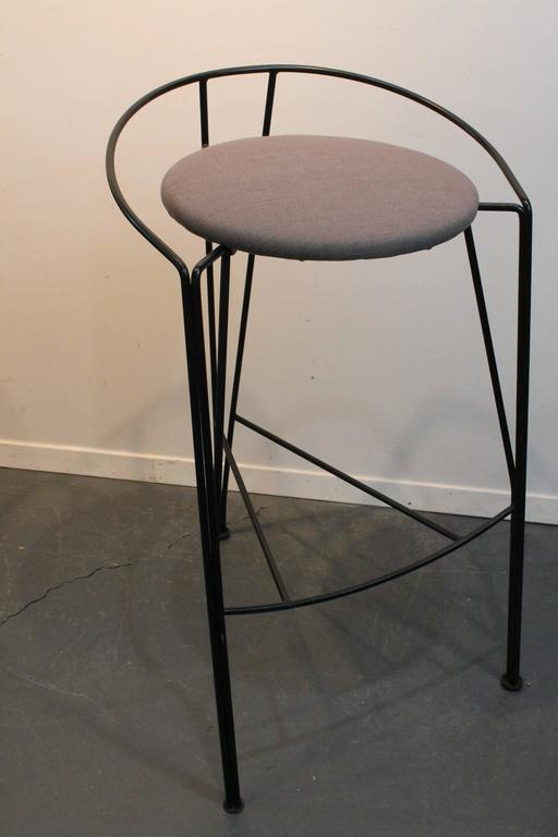 Set Of Four Postmodern Pascal Mourgue Barstools At 1stdibs