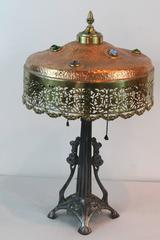 Art Deco Jeweled Lamp