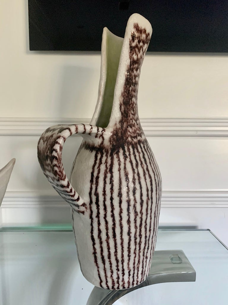 Italian Ceramic Sculptural Pitcher by Guido Gambone For Sale 2