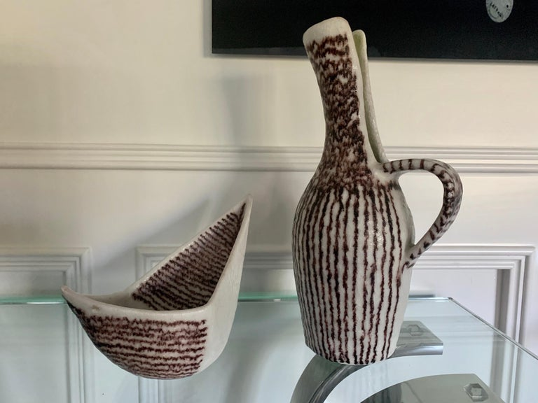 Italian Ceramic Sculptural Pitcher by Guido Gambone For Sale 5