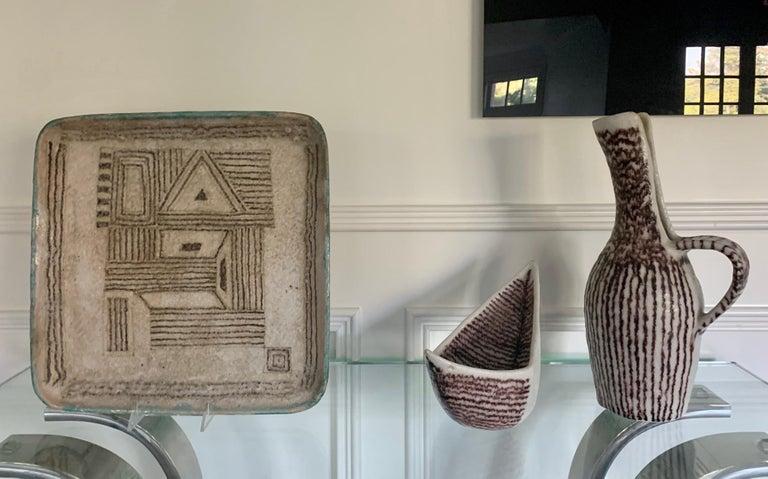 Italian Ceramic Sculptural Pitcher by Guido Gambone For Sale 6