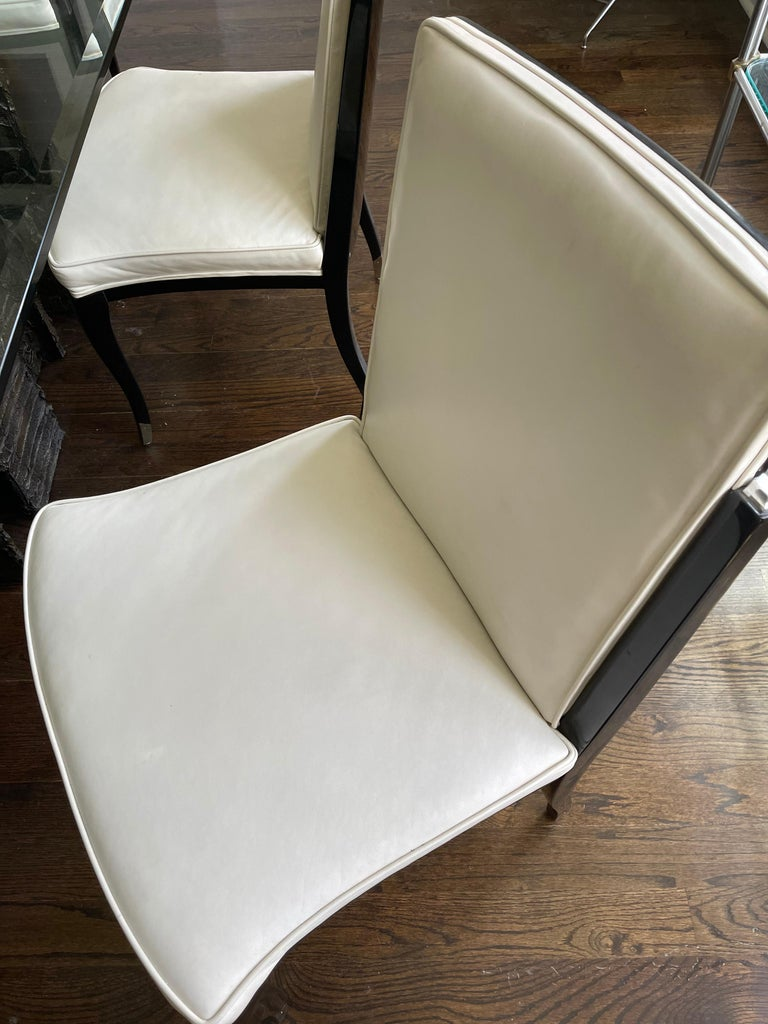 A set of six Art Deco Revival chairs by Interiors Crafts For Sale 7