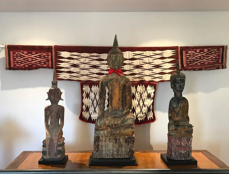 Three Village Buddha Statues from Laos For Sale 2