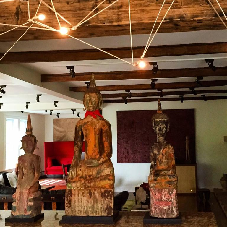Three Village Buddha Statues from Laos For Sale 3