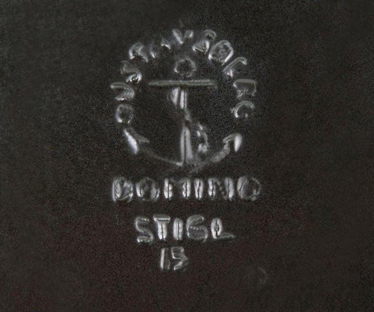 Swedish Stig Lindberg Domino Ceramic Tray by Gustavsberg in Sweden For Sale