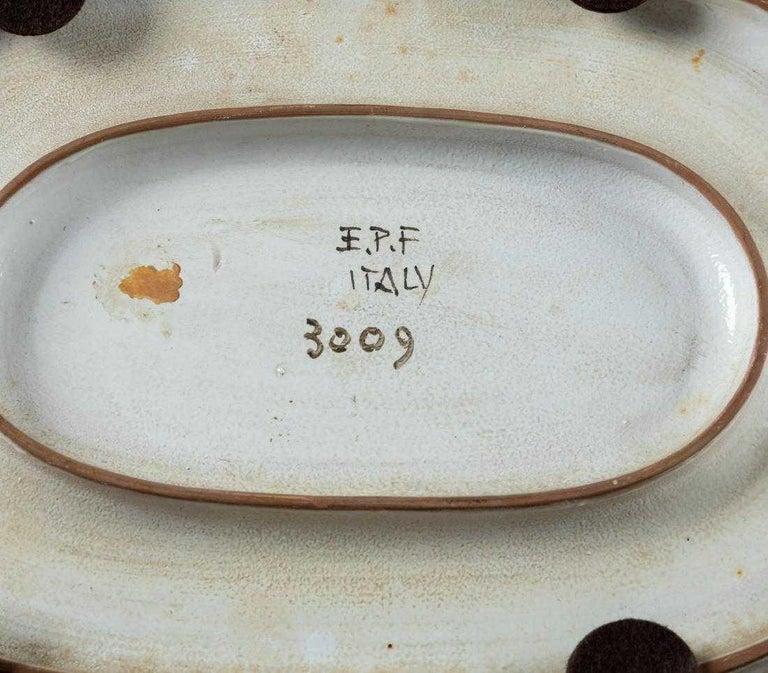 Italian Ceramic Art Platter by Eugenio Pattarino For Sale 1