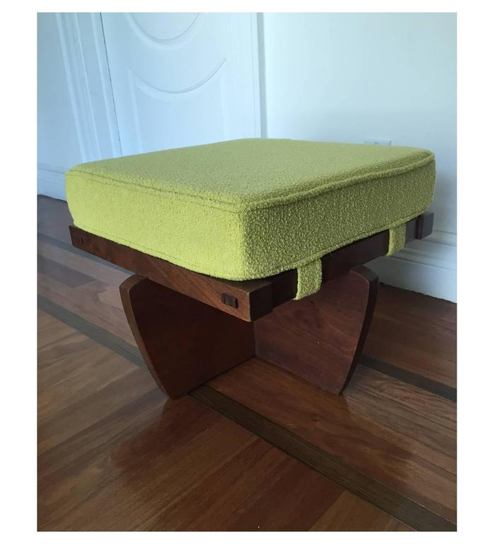 Modern Walnut Greenrock Stool or Bench with cushion by George Nakashima For Sale