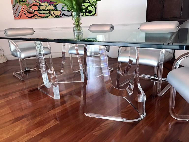 """Lucite 'Iceberg"""" Dining Table by Stephen K. Frye for Lion in Frost 4"""