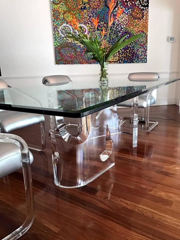 Lucite Iceberg Quot Dining Table By Stephen K Frye For Lion