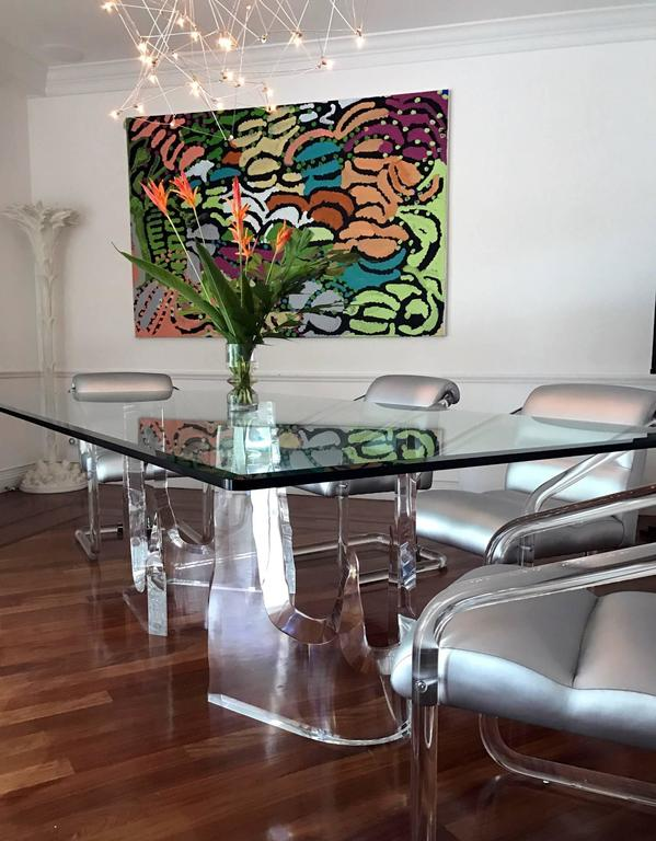 """Lucite 'Iceberg"""" Dining Table by Stephen K. Frye for Lion in Frost 6"""
