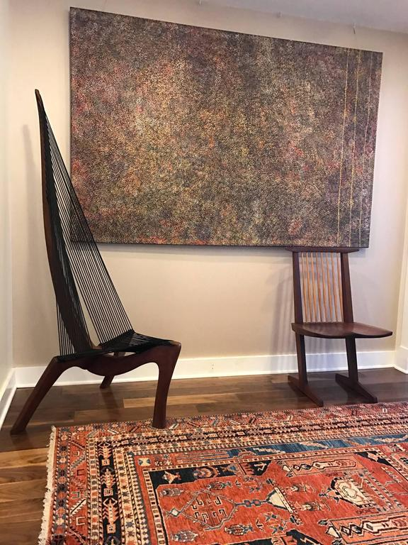 Walnut Harp Chair Attributed to Jorgen Hovelskov For Sale