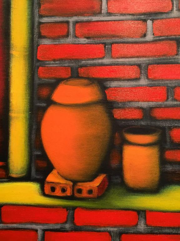 Vietnamese Modernist Painting by Duc Nghia Phan For Sale