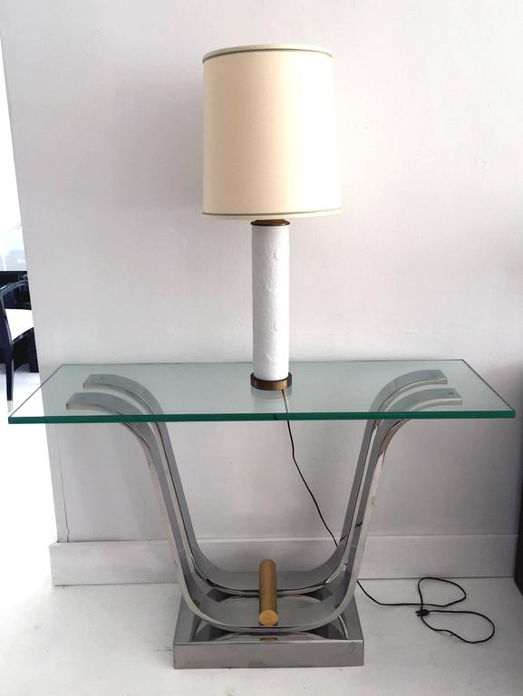 Karl Springer Console Dining Table In Good Condition For Sale In Atlanta, GA
