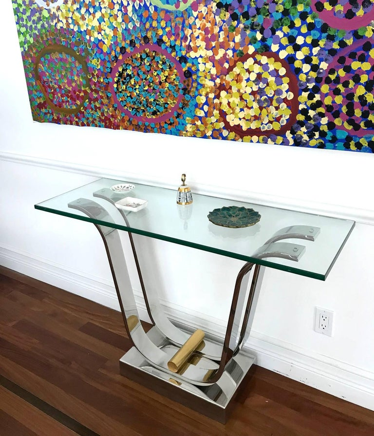 Karl Springer Console Dining Table For Sale 1
