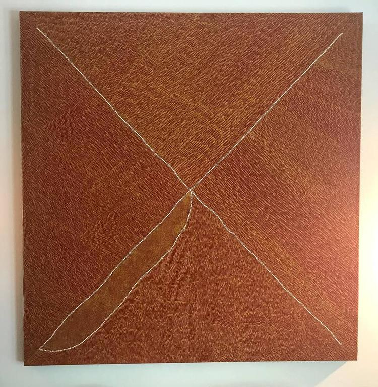 Post-Modern Magnificent Australian Aboriginal Painting by Kathleen Petyarre For Sale