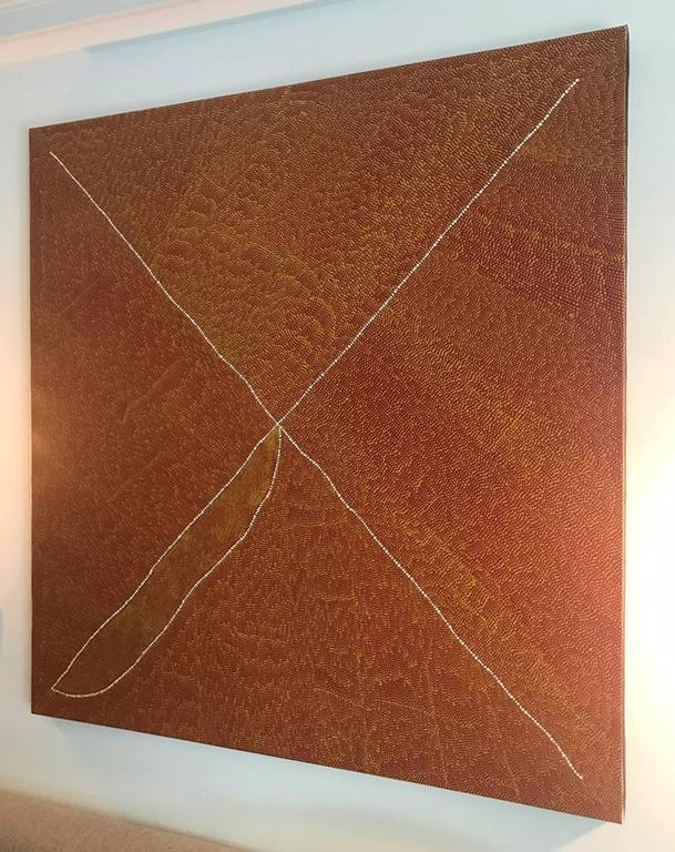 Magnificent Australian Aboriginal Painting by Kathleen Petyarre In Good Condition For Sale In North Miami, FL