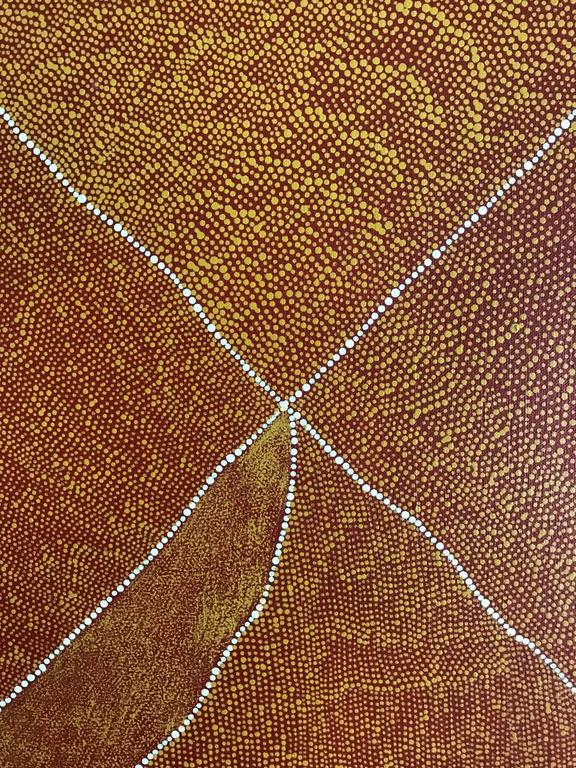 20th Century Magnificent Australian Aboriginal Painting by Kathleen Petyarre For Sale