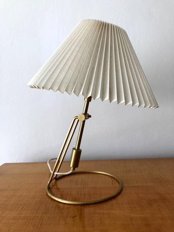 klint lighting klint cache pair of brass table lamps with original folded cellulose shade by danish make le klint pair brass lamp from denmark for sale at 1stdibs